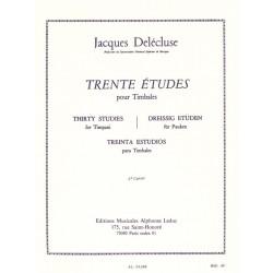 30 Études Pour Timbales - Jacques Delécluse