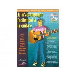 Je m´accompagne facilement à la guitare + CD + midi files