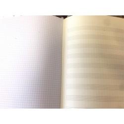 Cahier de 12 Portées + page quadrillée