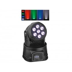 Mini lyre, wash - 7 LEDs RGBW 10 W - BK - ACTION