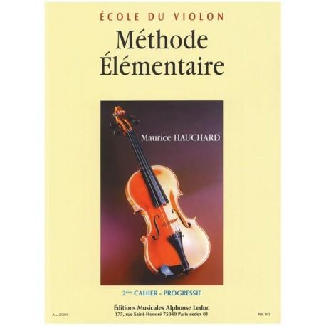 Methode Elémentaire Vol 2 - Ecole du Violon - Hauchard
