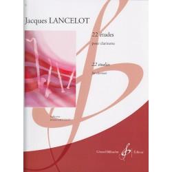 22 Etudes Clarinette - Jacques LANCELOT
