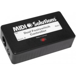 Dual Foot Switch Controler - MIDI SOLUTION