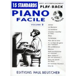 Piano facile 15 standards + CD