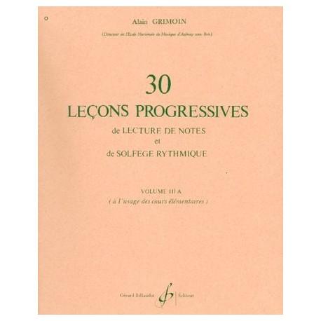 30 Leçons progessives de lecture et de solfège rythmique IIIa