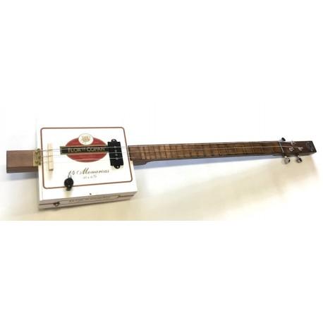 Cigar Box Guitar STLouis 3 cordes Flor de Copan