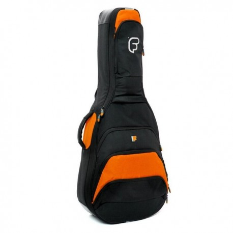 Housse Guitare Acoustique FUSION F1 Noir/Orange