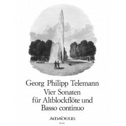 TELEMANN 4 Sonaten Altblockflöten & BC