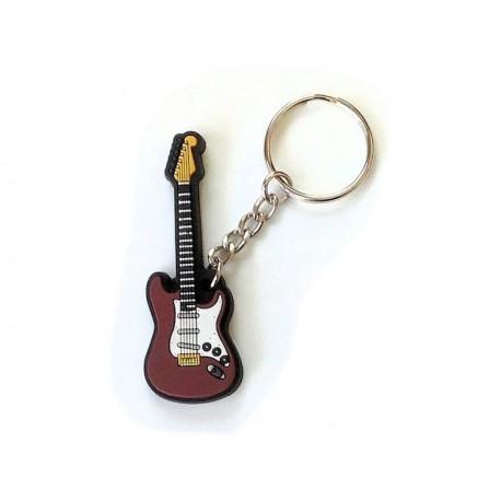 Porte-clés : Guitare Electrique-brun