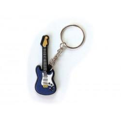 Porte-clés : Guitare Electrique-bleu