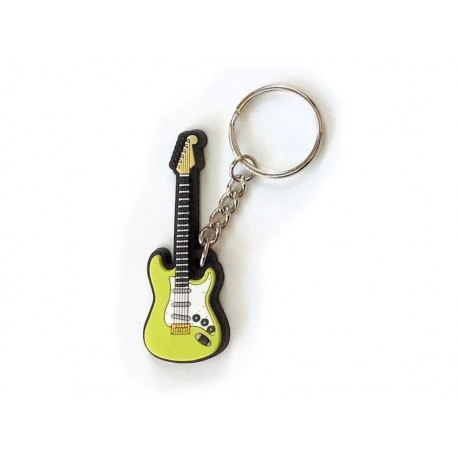 Porte-clés : Guitare Electrique-Vert