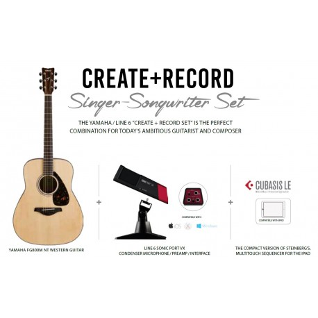 YAMAHA FG800M Singer + Interface / Micro
