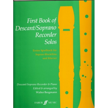 First Book of Descant/Soprano Recorder Solos - Faber
