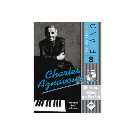 Charles AZNAVOUR - Spécial piano n°8 + CD