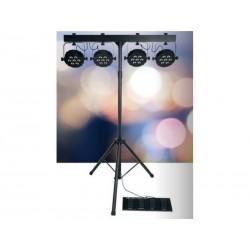 Jeu de 4 spot LED + Pied + Housse + Pédalier  -Action