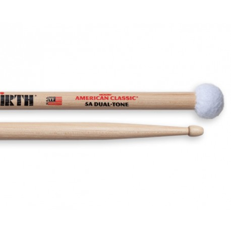 Vic Firth Double 5A + Batte roulement cymbal
