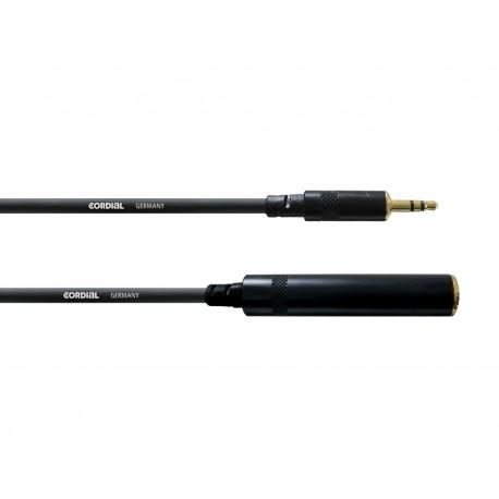 Câble Rallonge Jack 3.5 / Jack F 6.3 - 3m Stereo