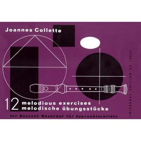 12 melodische Übungsstücke - Flûte Soprano - Collette Joannes
