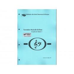Formation Musicale de Base Vol. 1b - bleu - Solfège
