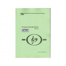 Formation Musicale de Base Vol. 3 - vert - Solfège