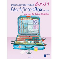 BlockflötenBox Band 4 avec 3 CD's - Soprano