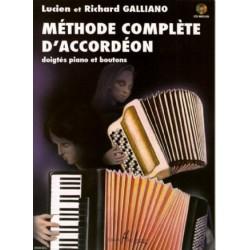 Méthode complète d´accordéon doigtés boutons et piano