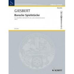 Barocke Spielstücke Heft 2 - 2 Flûtes Soprano