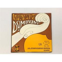 Violon 1/8 DOMINANT 4e SOL-G argent Moyen - Corde