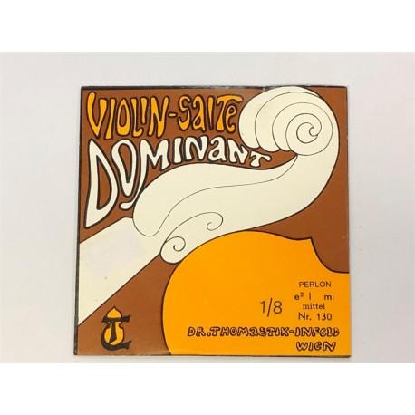 Violon 1/8 DOMINANT 1e MI-E aluminium Moyen - corde