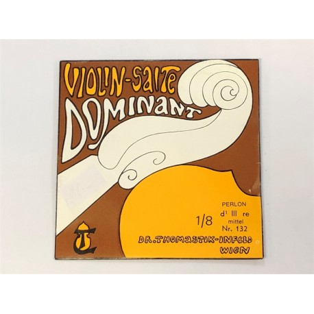 Violon 1/8 DOMINANT 3e RE-D aluminium Moyen - corde