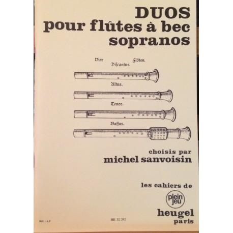 Duos pour Flûtes À Bec - Sanvoisin