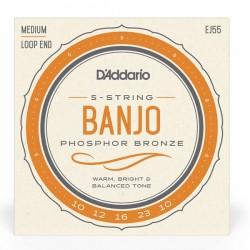 Banjo 5 cordes Phospor Bronze Loop End Medium