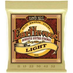 Cordes Acoustique ERNIE BALL Earthwood Bronze, Med Light 12-54