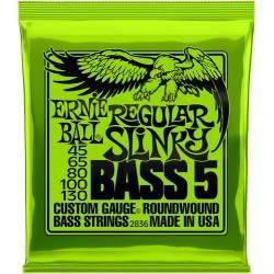 Cordes Basse 5 cordes ERNIE BALL Slinky - Regular 45 - 130
