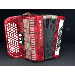 Accordéon 2 voix WALTHER - Rouge - occasion