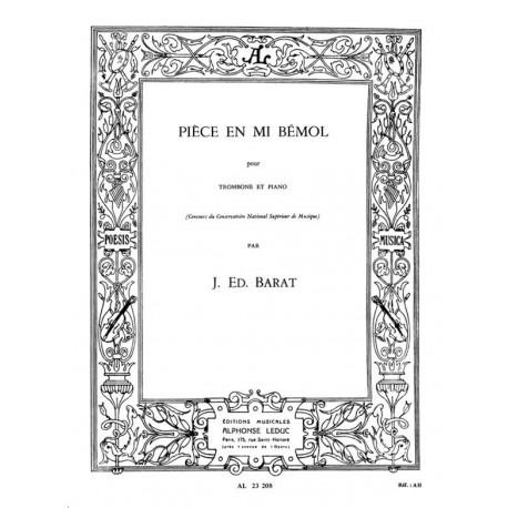 Pièce en Mib - Trombone/Piano - Joseph Eduard Barat
