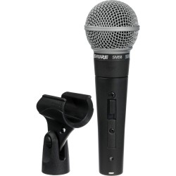 SHURE SM58 micro vocal + switch