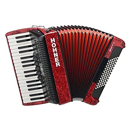 HOHNER Bravo III 72 - Rouge - Accordéon Piano- occasion