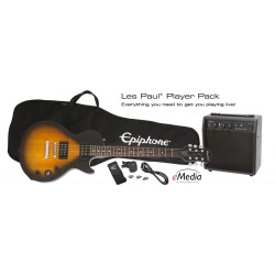 EPIPHONE Les Paul Player SunBurst + Ampli - Pack Guitare Electrique