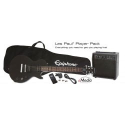 EPIPHONE Les Paul Player Black + Ampli - Pack Guitare Electrique