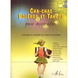 Cha-Chas, Boléros et Tangos + CD - pour accordéon et piano