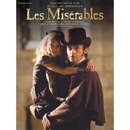 Les Misérables piano et chant avec grille d'accord guitare