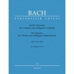 Six Sonates Vol. 2 - Sonatas IV, V, VI - BWV 1014-1019 - Violon