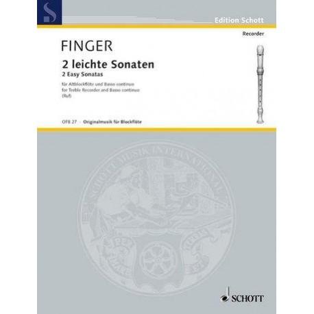 2 Leichte Sonaten - Gottfried Finger - Flûte Alto et Piano
