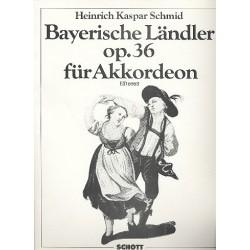 Bayerische Ländler op.36 für Akkordeon