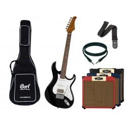 CORT G260CS Black + Ampli - Pack Guitare Electrique ACTION