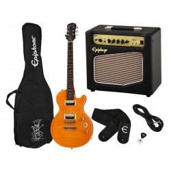 EPIPHONE Les Paul Special II Slash Trans Amber - Pack Guitare Electrique