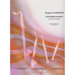 20 Etudes Faciles Clarinette - Jacques LANCELOT