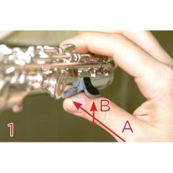 Thumbport Gris- Guide pouce Flute traversière