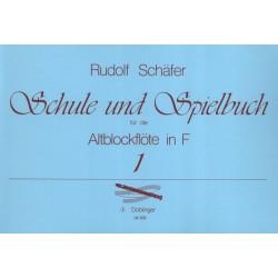 Schule und Spielbuch Altoblockflöte in F - Rudolf Schäfer